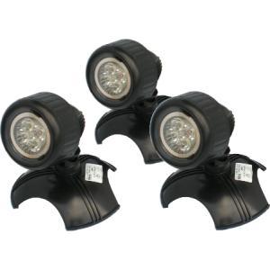 Drievoudige vijverspot LED set