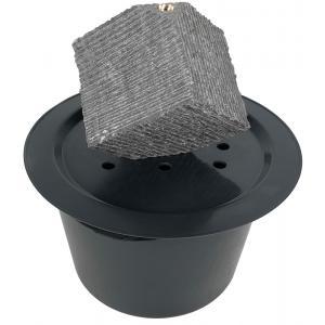 Kubus waterornament natuursteen LED 31 cm doorsnede
